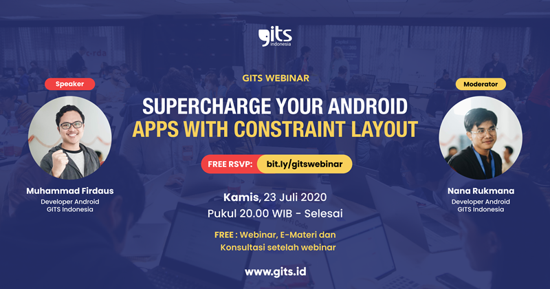 android developer mobile development indonesia constraint layout android class