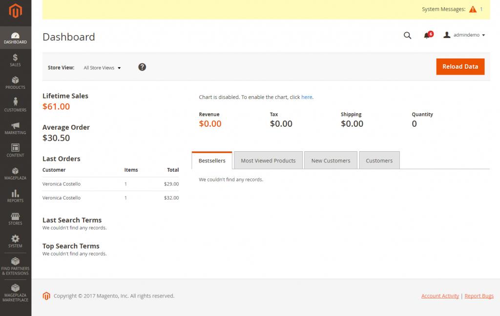 cms ecommerce online shop contoh website web toko e commerce magento